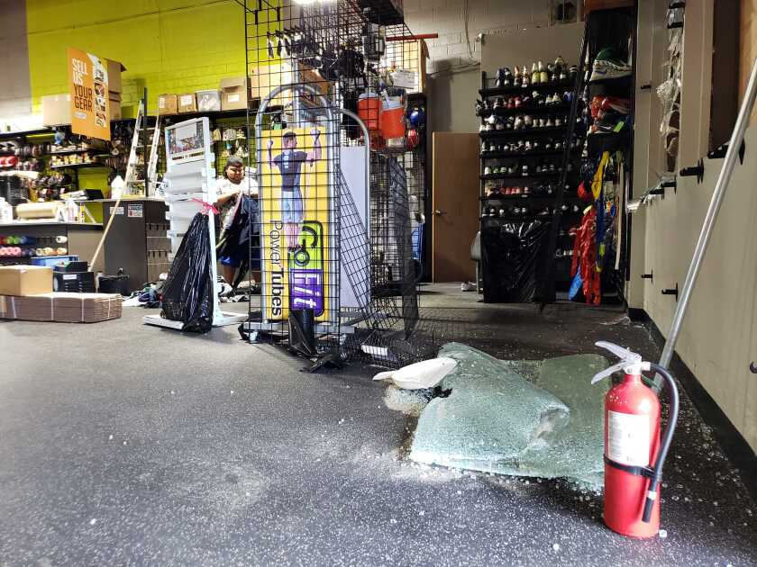 La Mesa business owners pick up the pieces