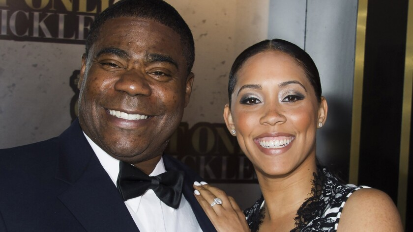 Tracy Morgan and Megan Wollover -- pictured in May 2014, before he was seriously injured in a six-vehicle crash -- got married Sunday in New Jersey.