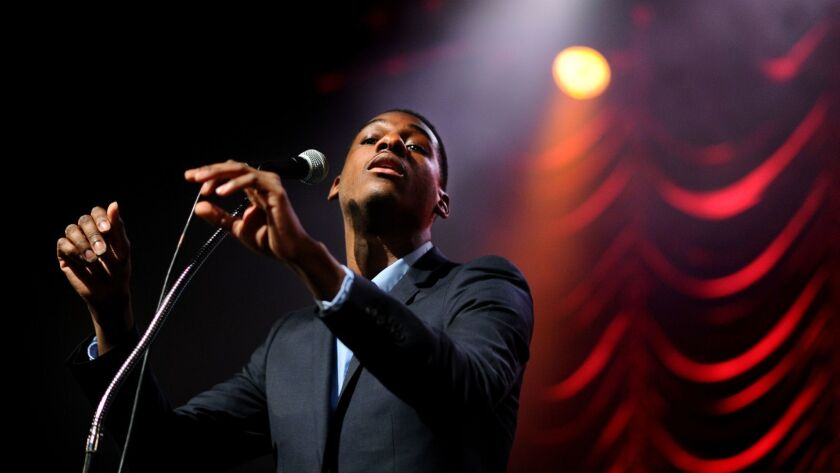 Leon Bridges in an early appearance at the Fonda in 2015.