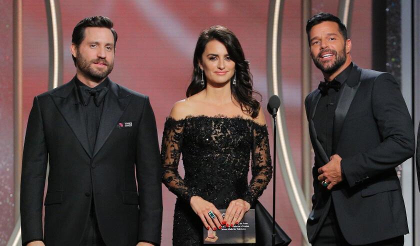 """Edgar Ramírez, Penélope Cruz y Ricky Martin, protagonistas de """"American Crime Story: El asesinato de Gianni Versace""""."""