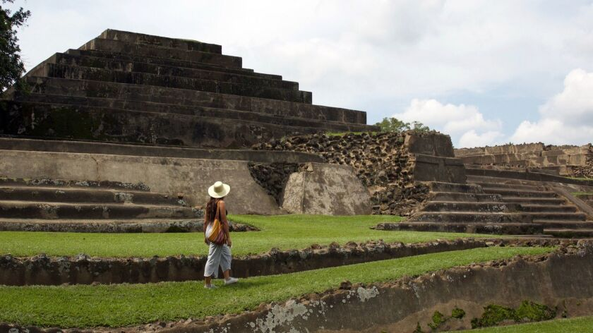 The Maya ruins of Tazumal, one of the many archeological sites in the ancient city of Chalchuapa. Ma