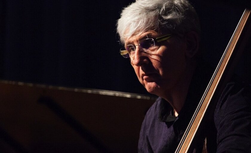 Acclaimed jazz bass player Mark Dresser has been a professor at UCSD since 2004.