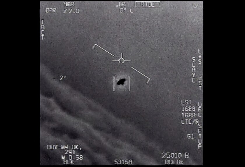 A unexplained object is seen in video