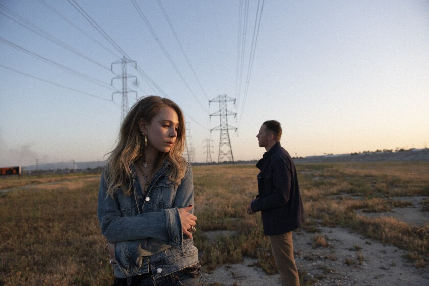 Juno Temple and Simon Pegg in the movie 'Lost Transmissions'