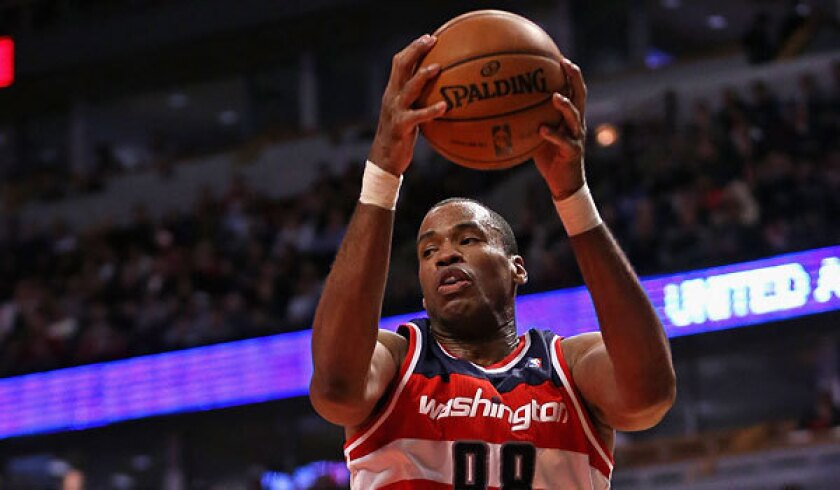 Jason Collins with the Washington Wizards.