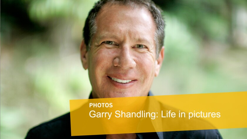 Comedy writer and actor Garry Shandling is shown at his Brentwood home in 2007.