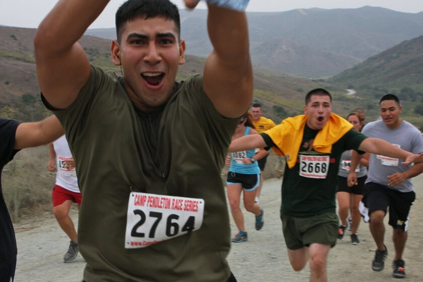 The Heartbreak Ridge race is expected to draw 1,000 military and civilian runners this year. Camp Pendleton.