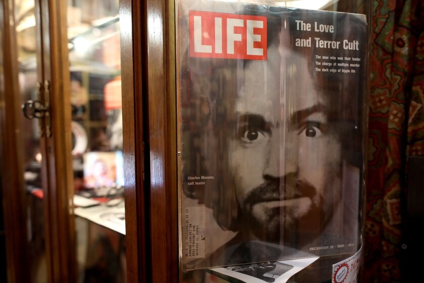 Charles Manson at Museum of Death