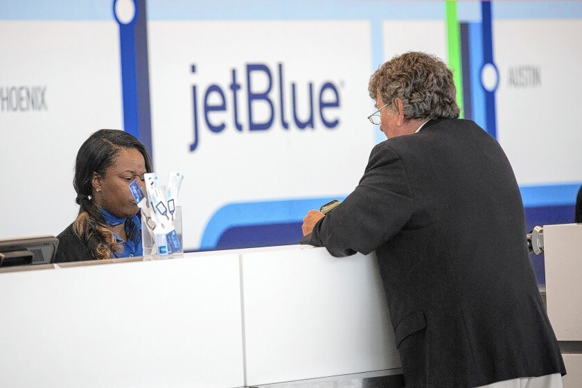 A recent study shows that when low-cost airlines such as JetBlue begin service in existing domestic routes, average ticket prices drop as much as 67%.