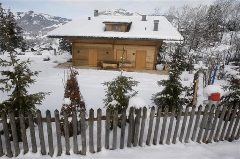 The chalet of film director Roman Polanski in Gstaad, Switzerland, Tuesday, Dec. 2, 2009. Justice Ministry said on Monday, Polanski was expected to transfer the full bail in the next couple of days and will be in jail until at least Friday. (AP Photo/Michel Euler)