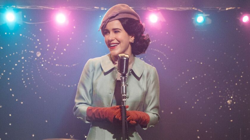 "Rachel Brosnahan in The Marvelous Mrs. Maisel,"" season 2."