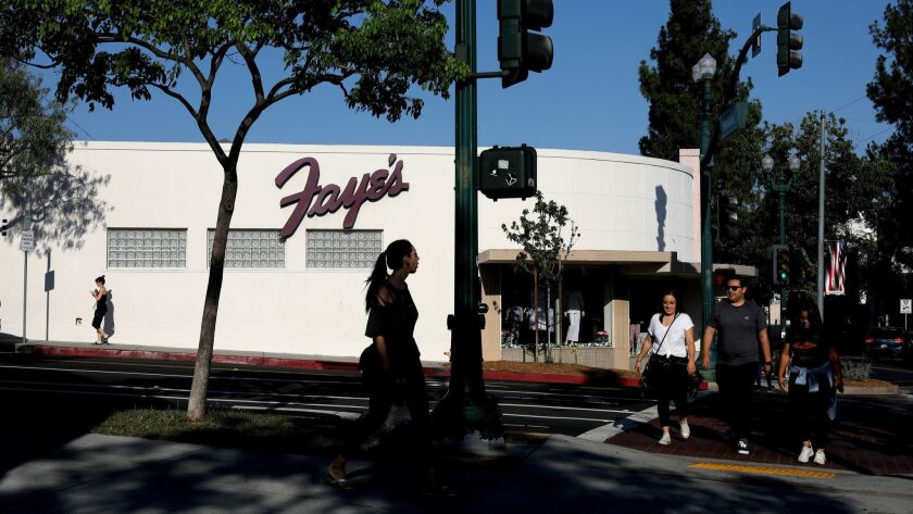 GLENDALE, CALIF. -- MONDAY, JULY 30, 2018: Montrose Shopping Park is a business improvement district