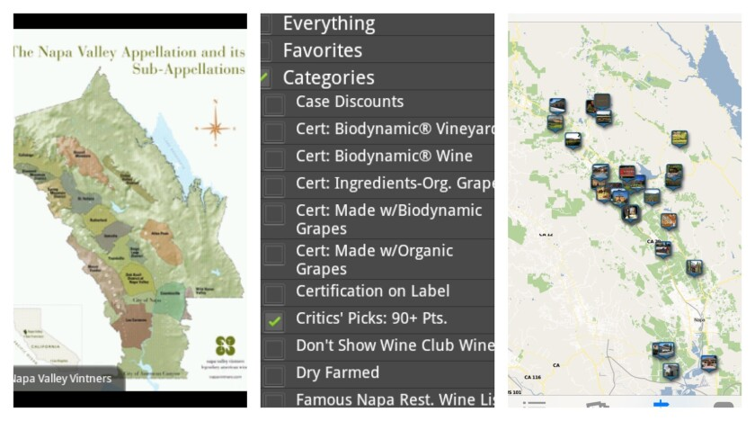 """The app """"Organically Napa: Tasting and Touring Guide"""" leads visitors to organic wineries."""