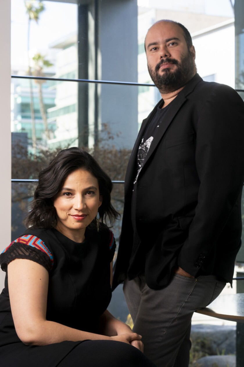 """BEVERLY HILLS, CALIF. - FEBRUARY 05: Directors Cristina Gallego and Ciro Guerra from the film, """"Bir"""