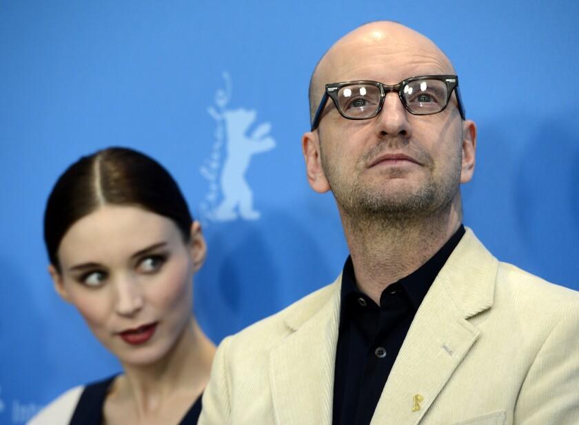 Steven Soderbergh, with actress Rooney Mara, at the Berlin International Film Festival.