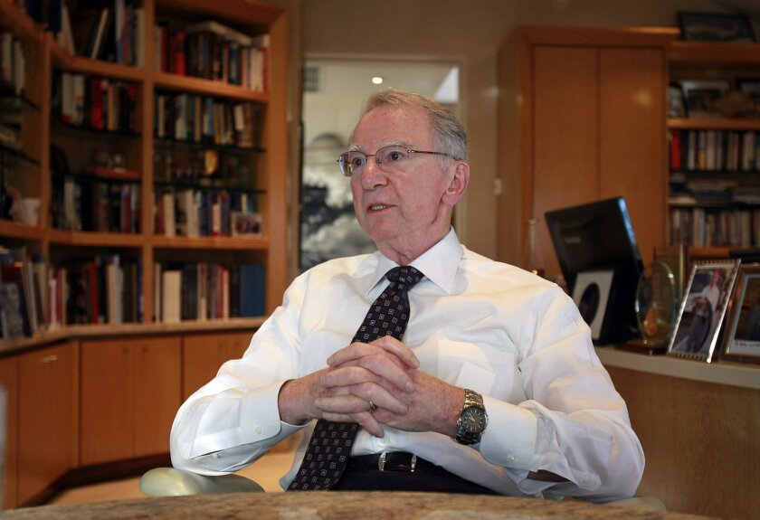 Irwin Jacobs, the co-founder of Qualcomm is shown here at his La Jolla home on Dec. 18, 2011.