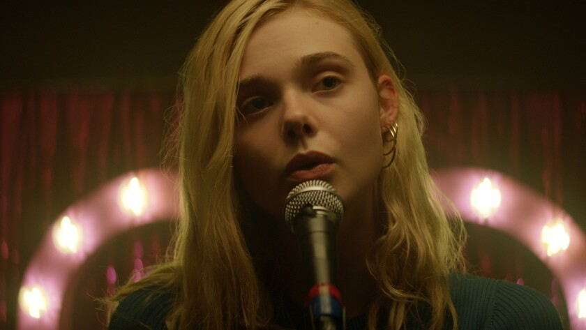 "Elle Fanning in ""Teen Spirit."""