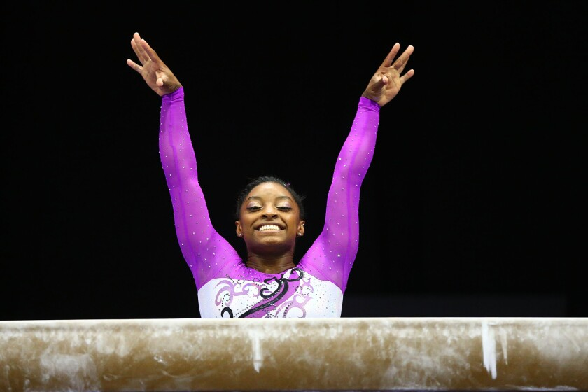US women's gymnastics advance