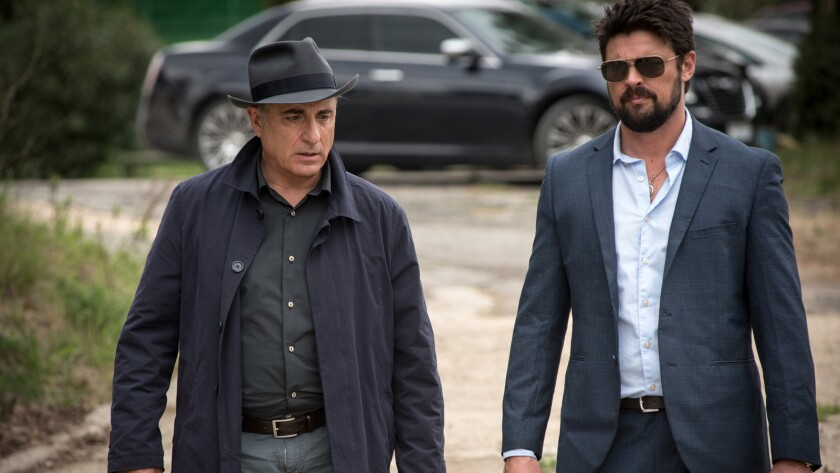"""Andy Garcia, left, and Karl Urban in the movie """"Bent."""""""