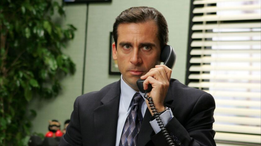 "Steve Carell appears in this scene from the NBC series ""The Office,"" which will become exclusively available to NBCUniversal's streaming service starting in 2021."