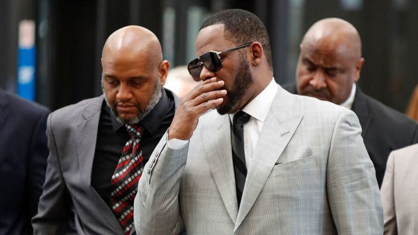 R. Kelly arrives for court in Chicago in June.