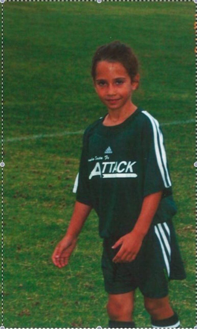 Jackie Friedman as a youth when she played for Rancho Santa Fe Attack Soccer.