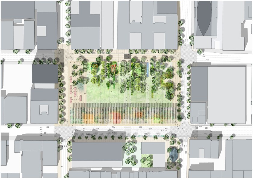 French landscape firm Agence Ter has won a design competition to remake Pershing Square in downtown Los Angeles.