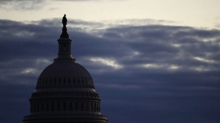 The U.S. Capitol during a partial shutdown of the federal government.