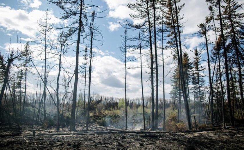 Vista de un incendio en Fort McMurray, Alberta, Canadá.