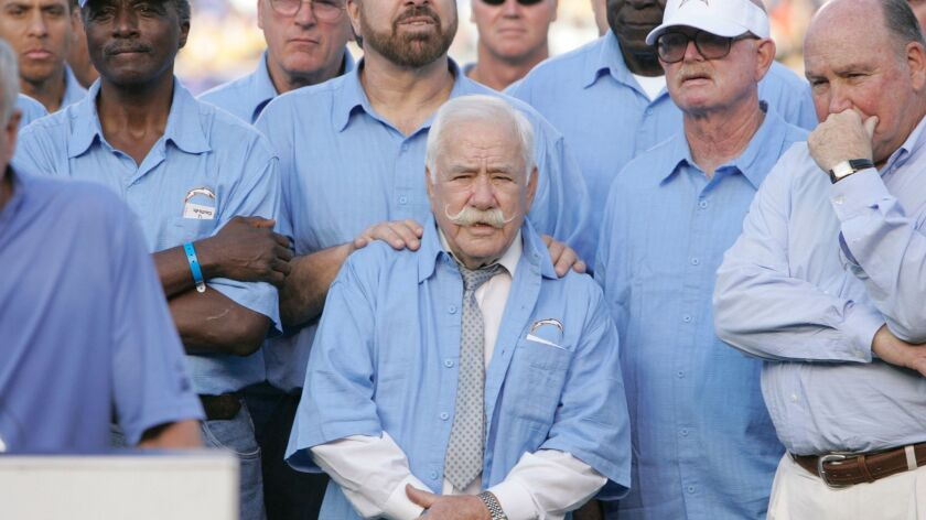 Chargers minority owner George Pernicano has died at the age of 98.