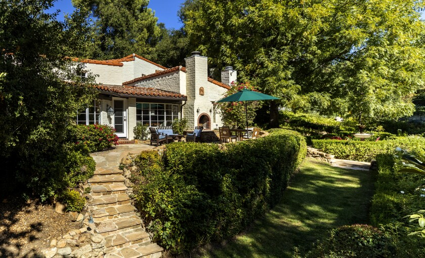 The 93-year-old hacienda brims with Spanish accents such as dramatic beams and vibrant tile floors.
