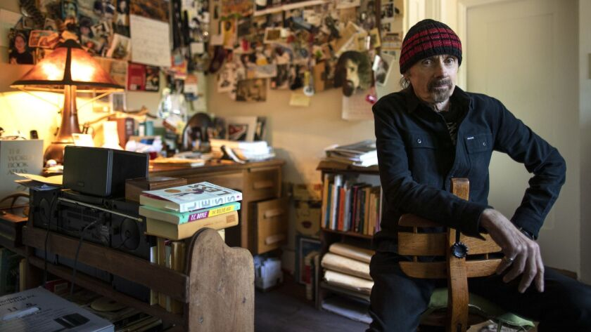 MONTECITO, CALIF. -- TUESDAY, MARCH 26, 2019: Novelist T. C. Boyle in his upstairs writing space at