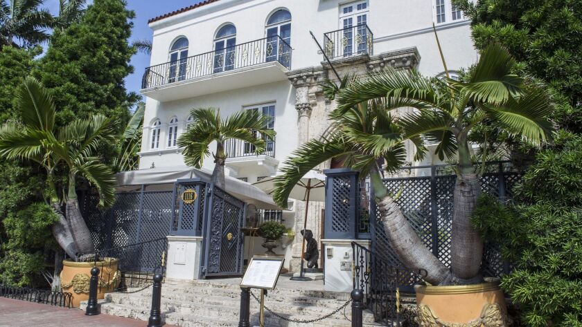 The front of Casa Casuarina, Gianni Versace's Miami mansion, where the celebrated designer was slain by Andrew Cunanan.