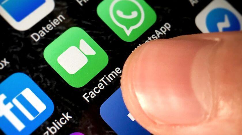 Apple reports FaceTime app bug, Kaarst, Germany - 29 Jan 2019