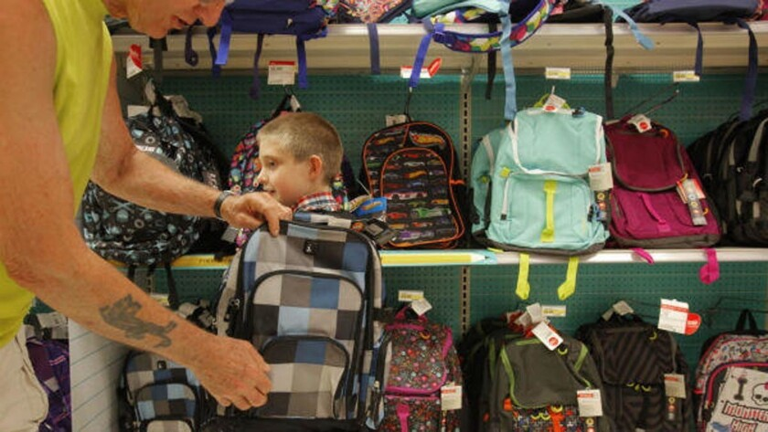 National Retail Federation shows declining back to school numbers