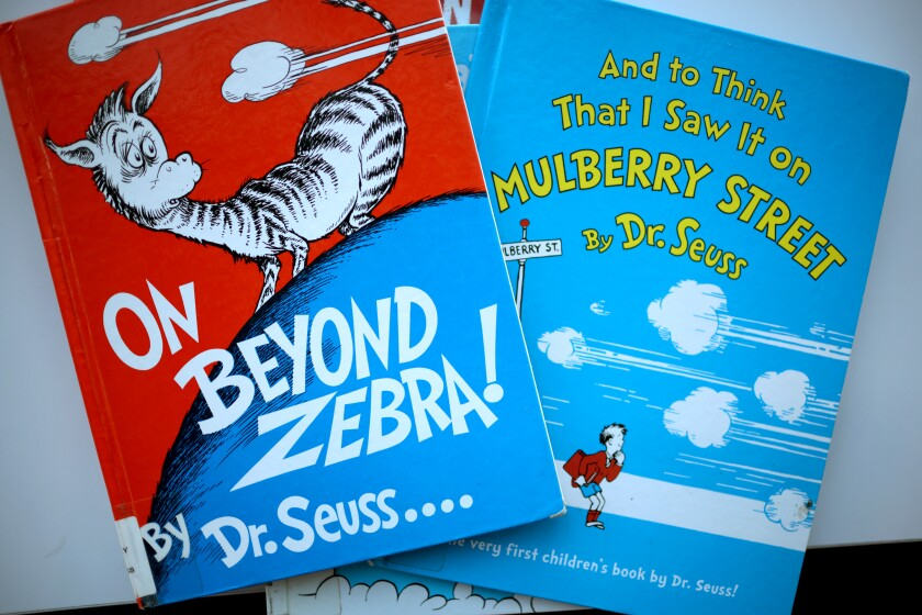 """On Beyond Zebra!"" and ""And to Think That I Saw It on Mulberry Street,""  by Theodore Geisel, a.k.a. Dr. Seuss."