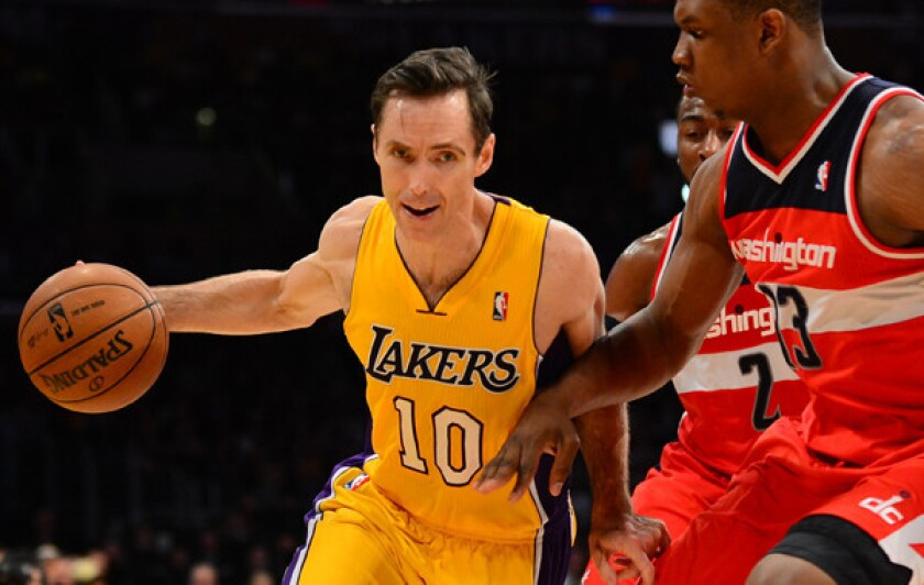 Lakers point guard Steve Nash has been limited to just six games this season because of injury.