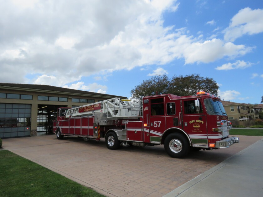 The Chula Vista Fire Department's station 7 in the Otay Ranch area has a new truck to help fight fir