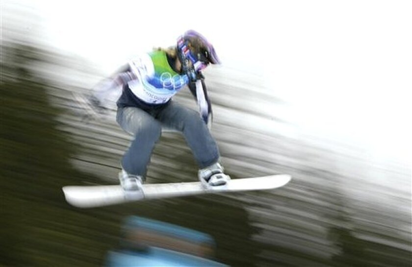 Lindsey Jacobellis was disqualified during the semifinals of the snowboardcross competition Tuesday, Feb. 16.