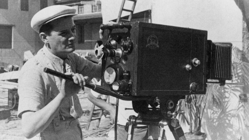"Marcel Pagnol on the set of ""Cesar."""