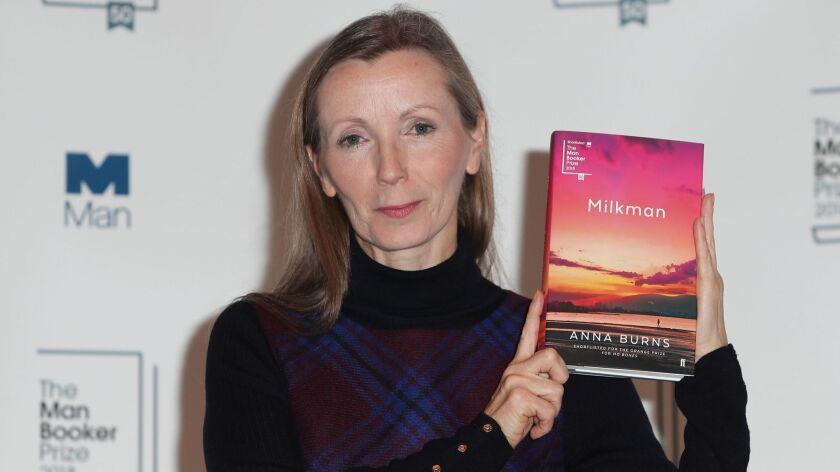 Anna Burns with her Man Booker-winning novel, 'Milkman'