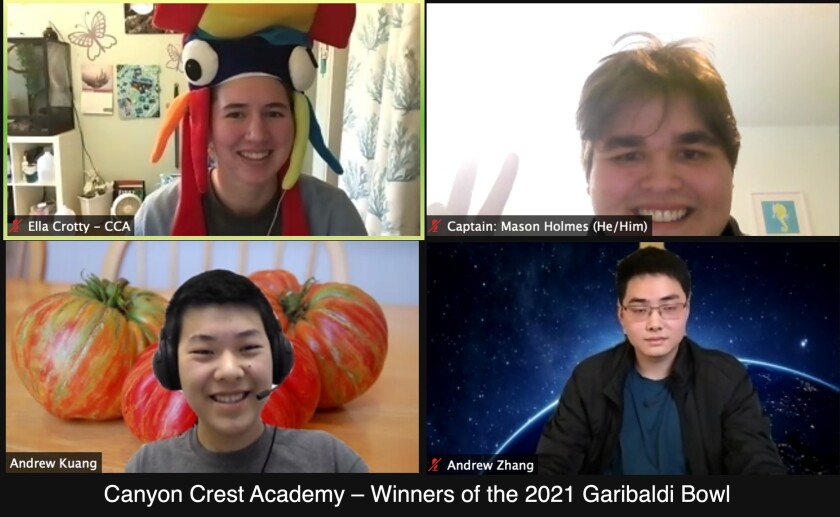 The team from Canyon Crest Academy won the Garibaldi Bowl.