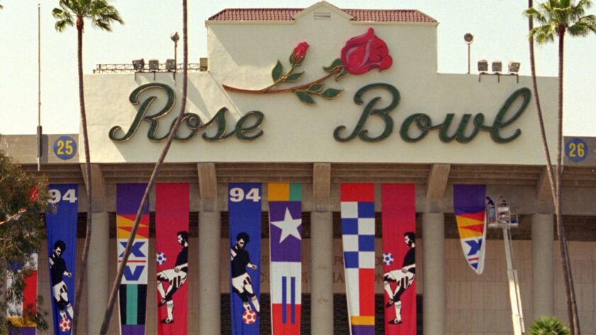 Pasadena's Rose Bowl was the site of the World Cup final in 1994.