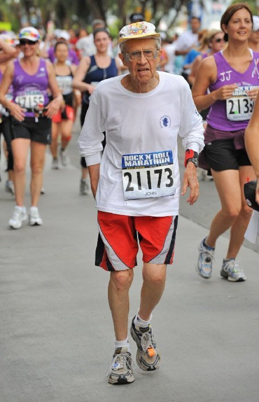 John Cross, 84, of Bonita finished last year's Rock 'n' Roll in 6 hours, 35 