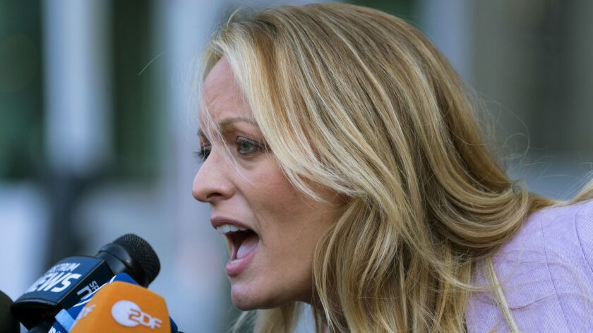 A federal judge dismissed the defamation lawsuit that adult film actress Stormy Daniels had filed against President Trump.