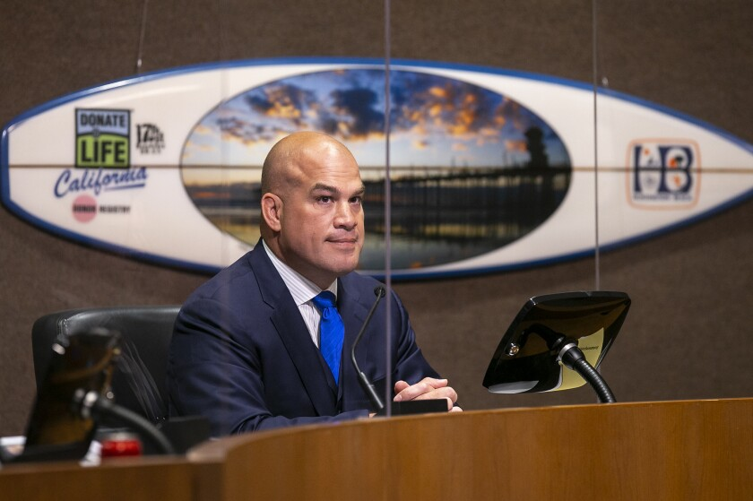 Mayor Pro-Tem Tito Ortiz resigned from the City Council at its meeting at City Hall on Tuesday, June 1.