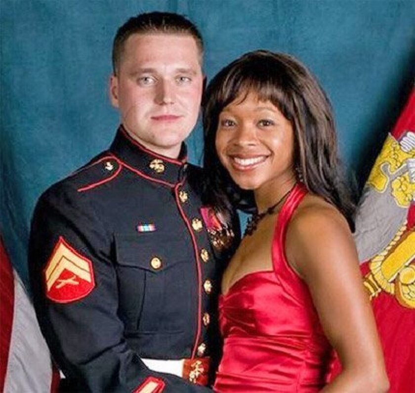 Sgt. Jan Pietrzak and his wife, Quiana  Jenkins-Pietrzak, were killed in their home  in Winchester, in southwestern Riverside  County, on Oct. 15, 2008.