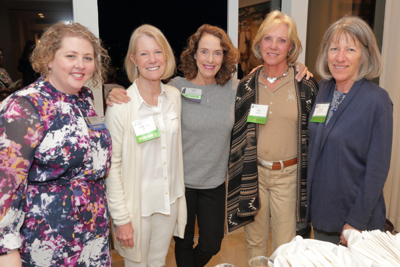 Board member Bridget Strickland with founders Catherine Blair, Linda Kathy, Ann Parode Dynes, and Janie DeCelles