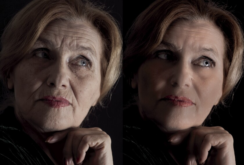 """""""Before & After"""" images with photo retouching software by Portrait Professional."""