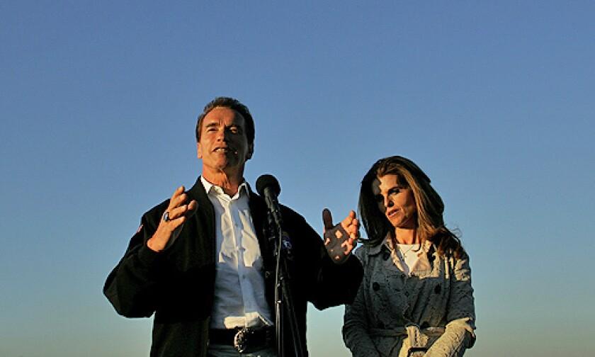 California Governor Arnold Schwarzenegger and wife Maria